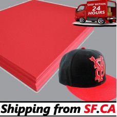 "100 sheets,15"" x 18"" x 3mm,Red Color - 3D Embroidery Puff Foam Backing"