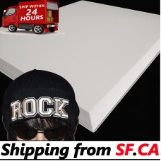 """100 sheets,15"""" x 18"""" x 3mm,White Color - 3D Embroidery Puff Foam Backing"""