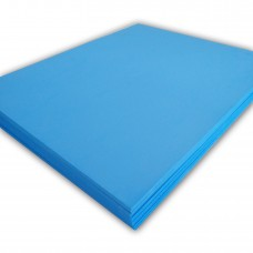 "100 sheets,15"" x 18"" x 3mm,Blue Color - 3D Embroidery Puff Foam Backing"
