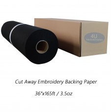 Cut Away Embroidery Backing Paper,3.53oz,36 in x 165ft  / roll - Black