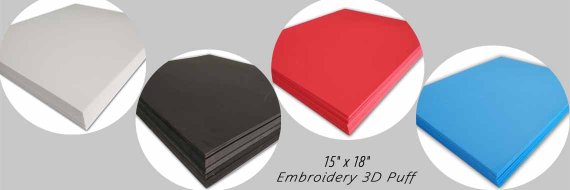 3D Embroidery Puff Foam Backing