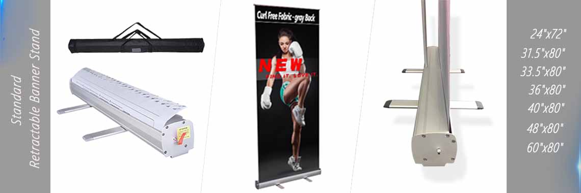Economy Retractable Banner Stand Standard