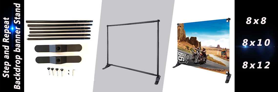 Step and Repeat Banner Stand 8x10 8x18 8x12