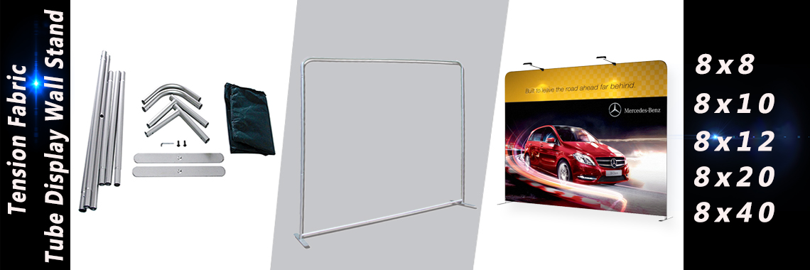 Tension Fabric Tube Backdrop Stand 8x8,8x10,8x12