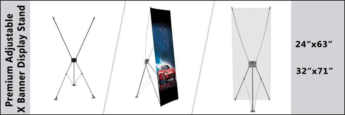 Premium Adjustable Tripod X Banner Display Stand