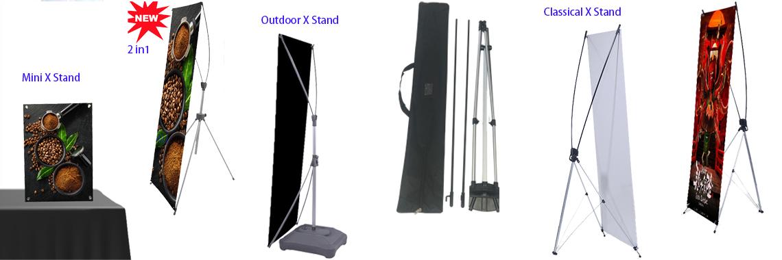 Premium Adjustable Tripod X Banner Display Stand