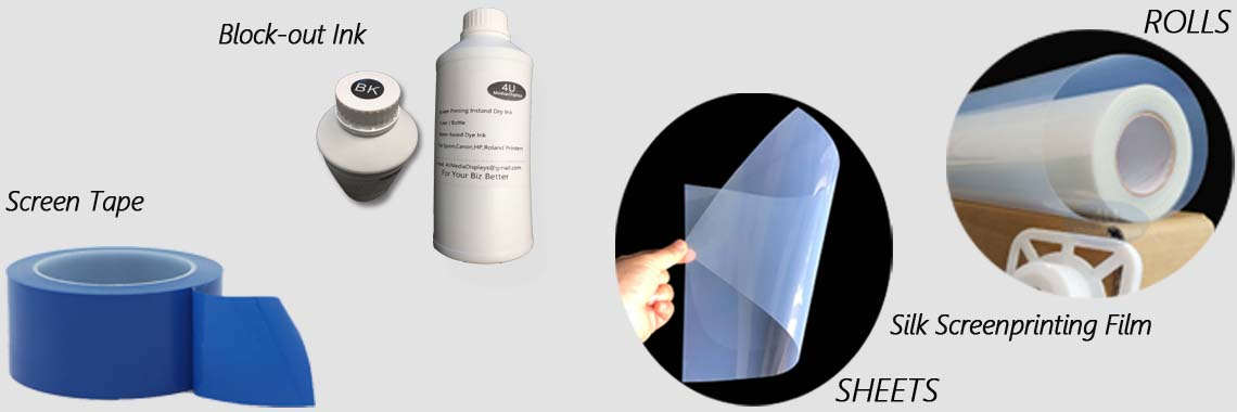 Screenprinting Waterproof Inkjet Transparency Film