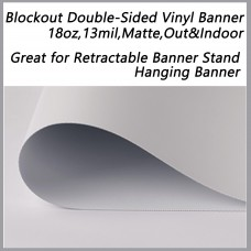 "Blockout Double Sided Printing Vinyl Banner,18oz,13mil,54""x165ft"