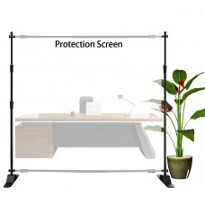 Clear Film Protective Sneeze Guard Shield 4 ¼'x4' (W*H) Adjustable Banner Stand