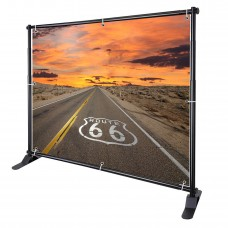 8'x8'  HEAVY-DUTY Telescopic Step and Repeat Banner Backdrop Stand Adjustable Display Wall