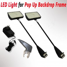 2 PACK,LED LIGHT - Pop Up Trade Show Booth Exhibit Backdrop Display 50 LEDs