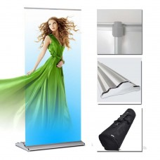 "36"" x 80~92""(H) Classical Deluxe  Retractable Banner Stand"