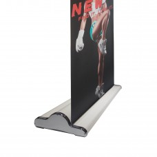 "33 ½"" x 80~94""(H)NEW & SPECIAL Ivory White  Retractable Banner Stand with Widened Base"