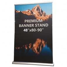 "48""x80-90"" Premium  Retractable Banner Stand"