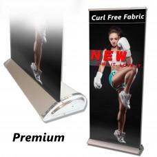 "33.5""x80-92"" Premium  Retractable Banner Stand"