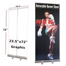"""24""""x72"""",Standard Retractable Roll Up Banner Stand(60x182cm)"""