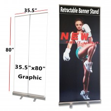 """36""""x80"""",Standard Retractable Roll Up Banner Stand(90x200cm)"""