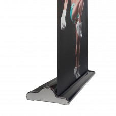 "33.5"" x 80~94""(H)NEW & SPECIAL  Black Velcro Retractable Banner Stand with Widened Base"