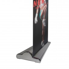 """33.5"""" x 80~94""""(H)NEW & SPECIAL Silver Velcro Retractable Banner Stand with Widened Base"""