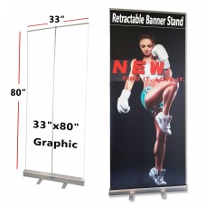 """33.5""""x80"""",Standard Retractable Roll Up Banner Stand(85x200cm)"""