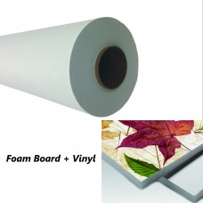 "Glossy Self-adhesive White Vinyl,4mil,54""x100ft,White Back"