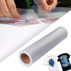 "High Temperature PET Clear Tape 24""x50ft (0.61x15m) Roll for Printable Heat Transfer Vinyl"