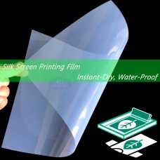 Waterproof Inkjet Instant-Dry Transparency Film for Silk Screen Printing 5 mil,8-1/2 x 11 inches (100 sheets)