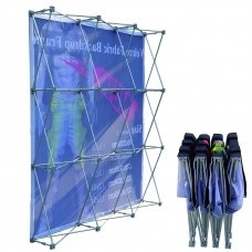 3x3 (H*W), Velcro Tension Fabric Backdrop Booth Frame Straight Pop Up Display Stand 2.28*2.28m