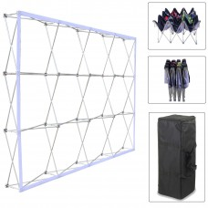 3x4 (H*W), Velcro Tension Fabric Backdrop Booth Frame Straight Pop Up Display Stand