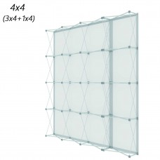 4x4 Velcro Tension Fabric Backdrop Booth Frame Straight Pop Up Display Stand 10'x10' (H*W)