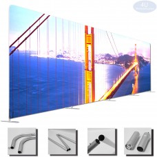 7 ½  x 40ft EZ Tube Large Format Straight Backdrop Display Frame (HxW)(Hardware Only)