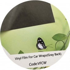 "Glossy Self-adhesive White Vinyl,3.2mil,54""x165',Gray Back"