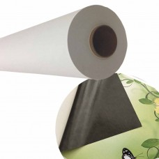 "Floor & Wall Graphics Self-adhesive Matte Vinyl,3.15mil,54""x165ft,Gray Back,Removable,3""Core"