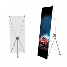 24 inch x 63 inch,Premium Adjustable Tripod X Banner Display Stand(60cm x 160cm)