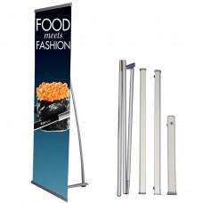 "33 ½"" x 80"",Premium L Banner Stand(85cm x 200cm)"