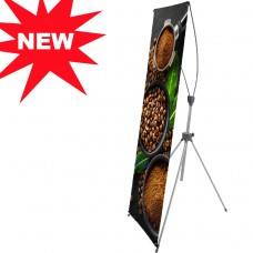 "New & Premium Adjustable X-Frame Banner Stand 2 IN 1 of 24""x63"" and 32""x74"""