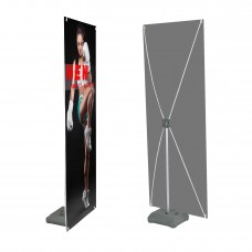 24 x 63 inches,Premium X Banner Stand with Water Fill Base(60cm x 160cm)
