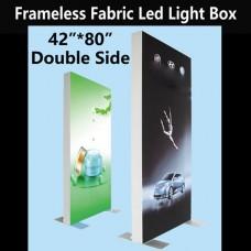 """Slim Double-sided Fabric Led Light Box 42""""*80"""""""
