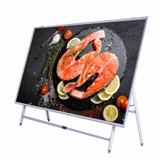 ( OVERSIZE )Adjustable Sign Display Holder Poster Sign Floor Sidewalk Stand Outdoor/Indoor
