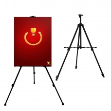 """Adjustable Tripod Easel 66"""" Display Stand, Heavy Duty Aluminum Frame"""