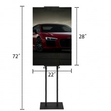 Foam Board Poster Double-sided Sign Holder,Height Adjustable up to 82 inches ( ONLY DISPLAY HARDWARE )