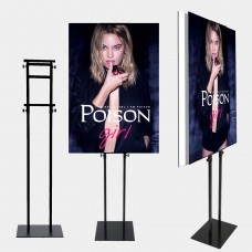 Foam Board Poster Double-sided Sign Holder,Height Adjustable up to 82 inches