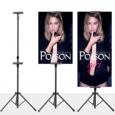 Poster Stand Sign Holder for Display,Height Adjustable up to 75 inches,Double-sided,Black (Stand)