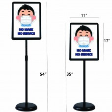 Outdoor/Indoor Floor Standing Poster Sign Holder Adjustable  (Black, 11x17 inches)