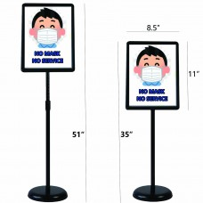 Outdoor/Indoor Floor Standing Poster Sign Holder Adjustable , Applicable to All Kinds of Stores Exhibition Halls (Black, 8.5x11 inches)