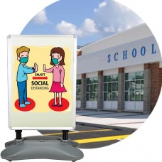 Heavy-Duty Double-Sided Outdoor/Indoor Floor Standing Water-based Snap Frame Poster Sign Holder (A1)